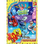 "Пазл ТМ ""G-Toys"", 35 элементов, постер  SP005-58 ""Губка Боб"" (210х300 мм)"