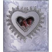 Фотоальбом свадебный на 100 фото 10х15 см (обл. твердая, ткань с украшениями) - 14BS1231-3