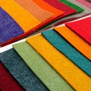 Фетр жорсткий (поліестер, 21х30 см, 180 г/м2, товщина 1,2 мм), набір з 3 кольорів (в асортименті)
