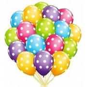 """Воздушный шар пастель с рисунком """"Горох"""" 15""""/38см (ассорти 10 шт.) №23"""