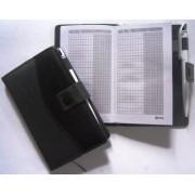 Блокнот на кнопке, обл. кожзам, с ручкой (10х16 см) Gentry-2560