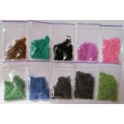 Бісер 4мм., колір в асортименті, пакетики по 7±1г.