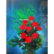 """Пленка самоклеющаяся (63х79 см) """"Красные розы"""" - ПСКБ-13"""