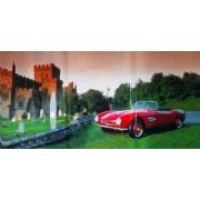 """Пленка самоклеющаяся (100х52 см) """"Красное авто возле замка"""" - ПСКБ-05"""