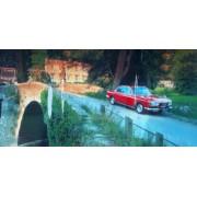 """Пленка самоклеющаяся (100х52 см) """"Красное авто на мосту"""" - ПСКБ-06"""