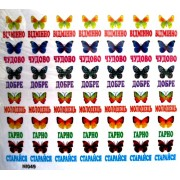 """Наліпки мотивувальні """"Метелики"""" (набір з 20 однакових аркушів) - Сон-NI049"""