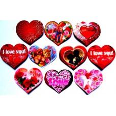 Валентинка-сердце на скотче (6х5 см, 100 шт.) - Эдельвейс Mini-MIX-100