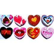 Валентинка-сердце на скотче (4,5х4 см, 80 шт.) - Эдельвейс Mini-MIX-80