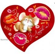 Валентинка-серце одинарна з накл. елем. (17х15 см, укр.) - Эдельвейс 27-00-244у