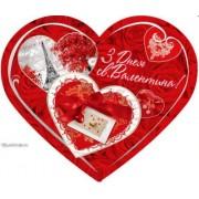 Валентинка-серце одинарна з накл. елем. (17х15 см, укр.) - Эдельвейс 27-00-246у