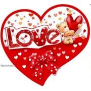 Валентинка-серце одинарна з накл. елем. (17х15 см, укр.) - Эдельвейс 27-00-248у