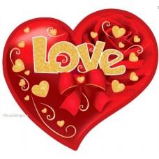 Валентинка-серце одинарна з накл. елем. (17х15 см, укр.) - Эдельвейс 27-00-249у