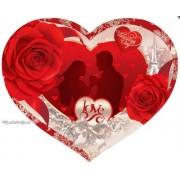 Валентинка-серце одинарна з накл. елем. (17х15 см, укр.) - Эдельвейс 27-00-250у