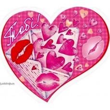 Валентинка-серце одинарна з накл. елем. (17х15 см, укр.) - Эдельвейс 27-00-253у