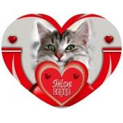 Валентинка-серце одинарна з накл. елем. (14х11 см, укр.) - Этюд НС-212у
