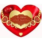 Валентинка-серце одинарна з накл. елем. (14х11 см, укр.) - Этюд НС-219у