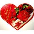 Валентинка-серце подвійна (15,5х13 см, укр.) - Эдельвейс 26-05-88у