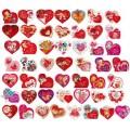 Валентинка-серце подвіна (7х6,5 см, укр., 50 шт.) - Эдельвейс MN-MIX-50U