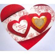 """Открытка-валентинка """"В день Святого Валентина!"""" (сердце) - Открытка.ЮА  ГИГн-0091/187"""